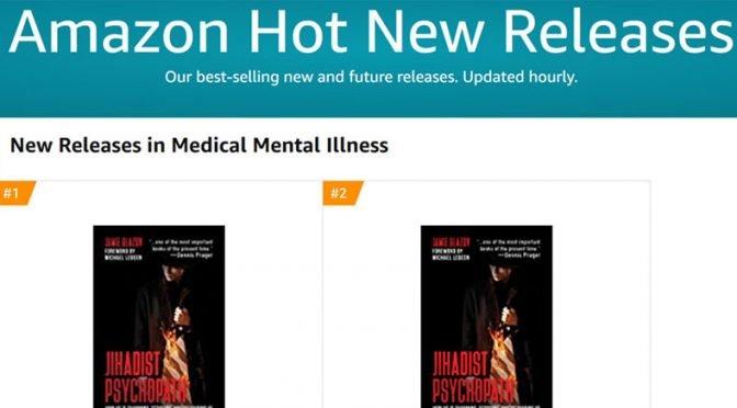 "Glazov's ""Jihadist Psychopath"" #1 Amazon New Release in ""Mental Illness"" Category"